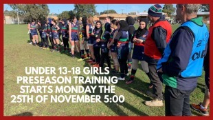 Under 13-18 Girls Pre-Season Training