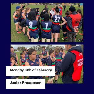 Junior pre-season training is back on February 10