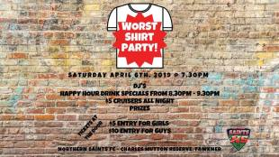 Worst Shirt Party - this Saturday!