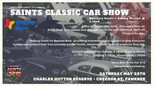 Saints Classic Car Show - Saturday May 25