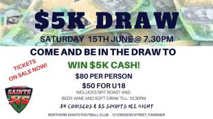 $5000 draw - this Saturday!