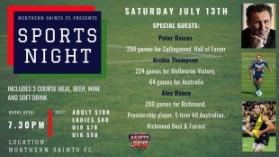 2019 Sports Night - this Saturday!