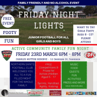 Friday Night Lights Junior Football Event!