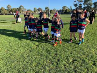 The under 9's against Coburg Districts