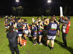 The under 13's night game v Strathmore